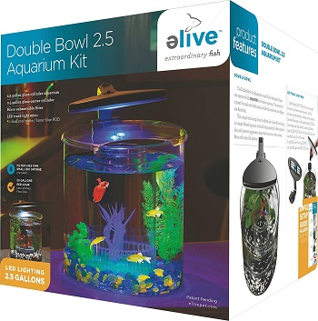 Elive Double Glass 2.5-Gallon Aquarium Kit review